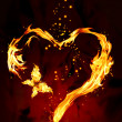 Burning heart — Foto de Stock