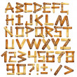Wooden alphabet - Stock fotografie