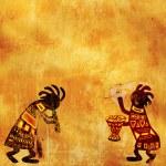 Afrika geleneksel desenler — Stok fotoğraf