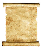 3d scroll of old parchment — Stok fotoğraf