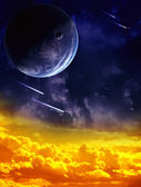 A beautiful space scene — Stock Photo