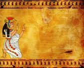 Wall with Egyptian goddess Isis image — Stock Photo