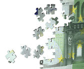 Puzzle with the image of euro — Stock Photo