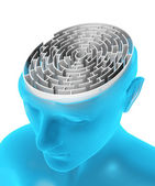 Brain in the form of the maze — Stock Photo