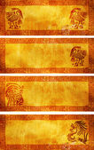 Banners with American Indian traditional patterns — Stock Photo