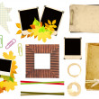 Collection elements for scrapbooking - Stock Photo