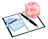 Calculation of mortgage — Stock Photo