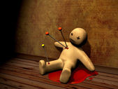 3d voodoo doll — Stock Photo