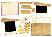 Collection elements for scrapbooking — Stock Photo