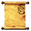 Royalty-Free Stock Photo: Sheet of ancient parchment