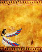 Egyptian goddess — Stock Photo