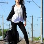 Railway girl — Stock Photo #5989549