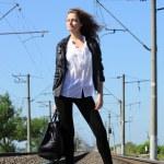 Railway girl — Stock Photo #5989576