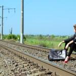 Railway girl — Stock Photo #5995197