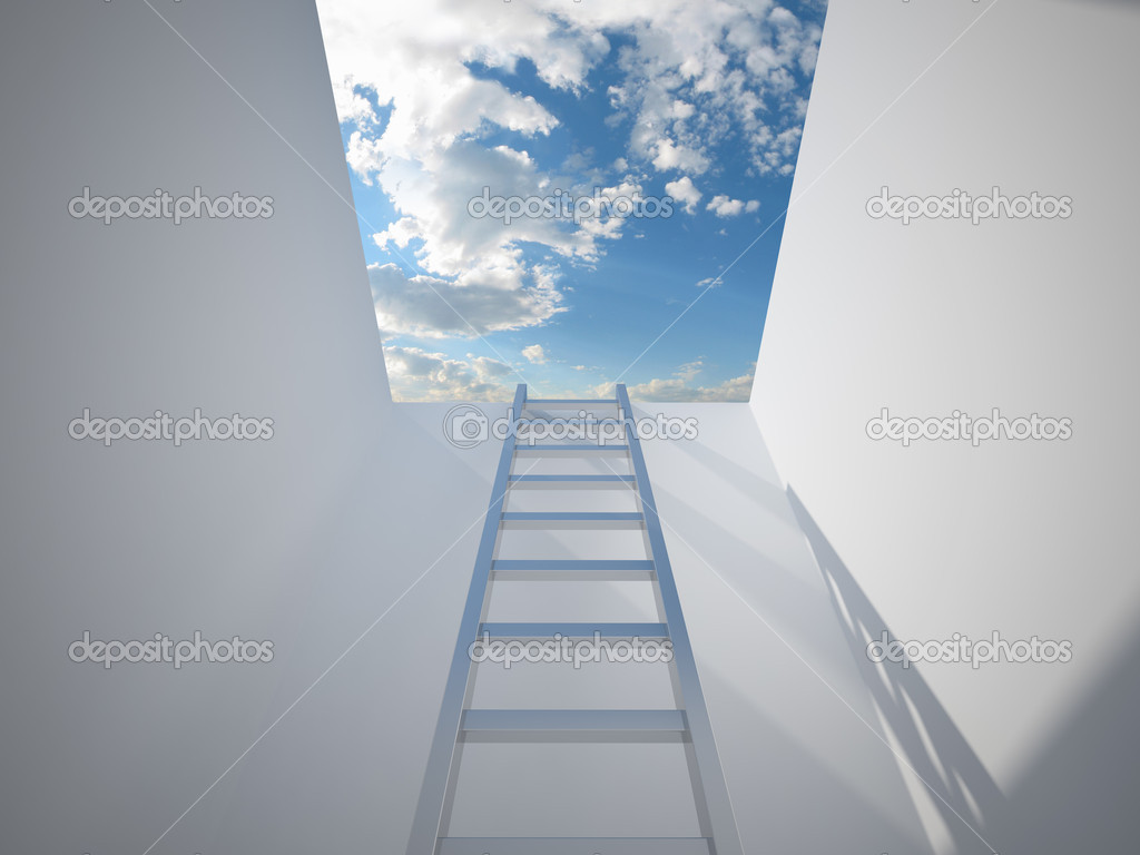 Ladder leading up to the light — Stock Photo #5831048