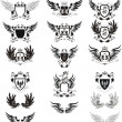 Royalty-Free Stock Vector Image: Collection of grunge vector coat of arms