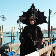 Royalty-Free Stock Photo: Mask of black bat at Venice carnival 2011
