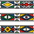 Set of traditional african ndebele patterns - vector illustratio - Stock Vector