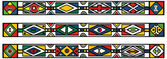 Set of traditional african ndebele patterns - vector illustratio — Stock Vector
