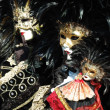 Stock Photo: Two bird masks at Venice carnival 2011