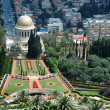 Stock Photo: Bahai temple gardens,Haifa,Israel