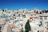 Old Jerusalem view from the Lutheran Redeemer 's church — Stock Photo