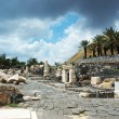 Ruins of ancient city Beit Shean ,Israel - Stock Photo