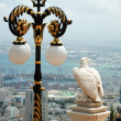 View of Haifa city and eagle statue,Israel — Stock Photo