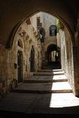 Street of old Jerusalem city,Israel — Stock Photo
