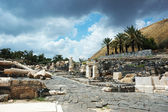 Ruins of ancient city Beit Shean ,Israel — Stock Photo