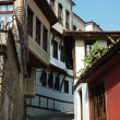Medieval houses of old center in Plovdiv,Bulgaria,unesco heritag — Stock Photo