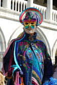 Mask at St. Mark's Square during Venice carnival 2011 — Stock Photo