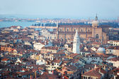 Old Venice cityscape - view from St Mark's Campanile,Italy — Foto de Stock