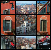 Old Venice collage - travel photos — Stock Photo