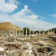 Panorama of ancient ruins of Beit Shean (Beit Shearim) city , Is - Stock Photo