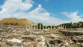 Panorama de ruinas antiguas de beit shean (beit shearim) ciudad, es — Foto de Stock