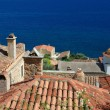Stock Photo: Timber roofs of old byzantine town Monemvasi,Greece