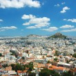View of Athens roofs and Mount Lycabettus from Acropolis hill,Gr — Stock Photo