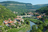 Old Veliko Tarnovo panorama from Tsarevets hill ,Bulgaria — Stock Photo