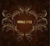 Vintage stylized floral background — Stock Vector