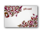Beautiful gift card — Vecteur