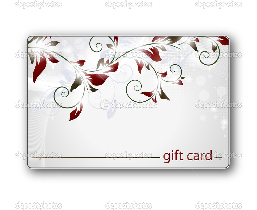 Beautiful gift card, vector illustration  — Stock Vector #6044496