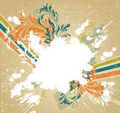 Fond grunge rétro, illustration vectorielle — Vecteur