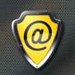 E-mail protection shield — Stockvectorbeeld
