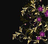 Fondo floral estilizado vintage — Vector de stock
