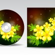 CD cover design — Stockvectorbeeld