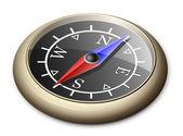Messing kompas — Stockvector