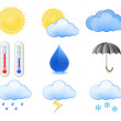 Stok Vektör: Weather Forecast Icons