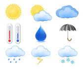 Väderprognos ikoner — Stockvektor