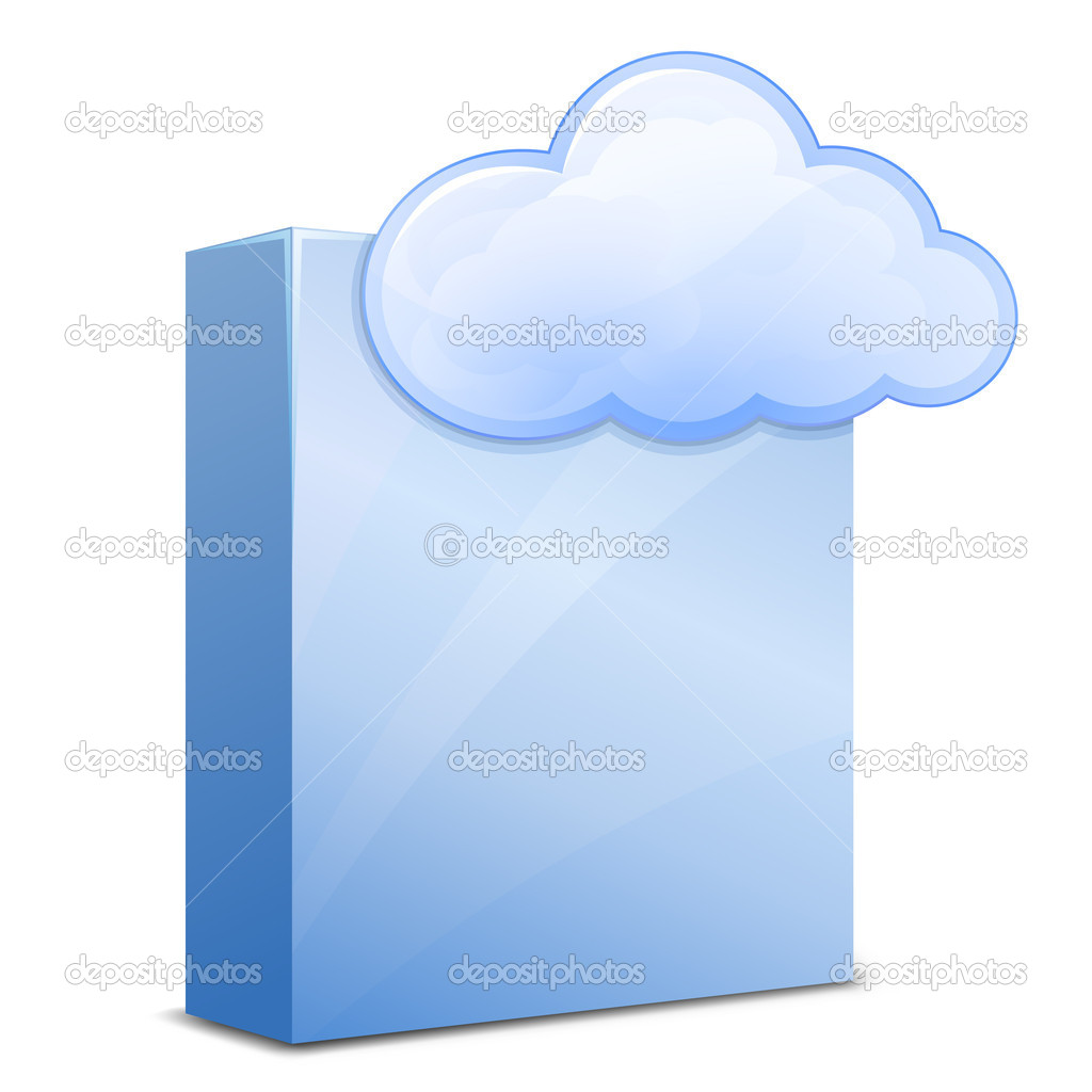 Cloud Software Service. Vector Illustration for Cloud Hosting — Stock Vector #5496385